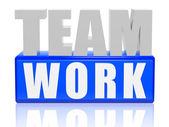 Teamwork - letters and cubes — Stock Photo