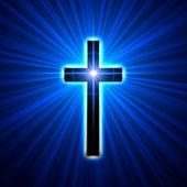 świecące krzyż — Zdjęcie stockowe