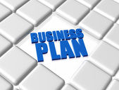 Business plan - blue concept — Stock Photo