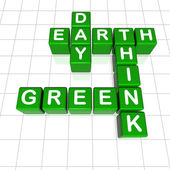 Earth Day think green — Stock Photo