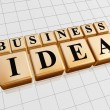 Business idea in golden cubes — Stock Photo #9835314