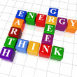Crossword 26 - energy, Earth, think, green — Stock Photo