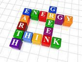 кроссворд 26 - энергия, земля, думаю, зеленый — Стоковое фото