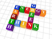 Kruiswoordraadsel 26 - energie, aarde, denken, groen — Stockfoto