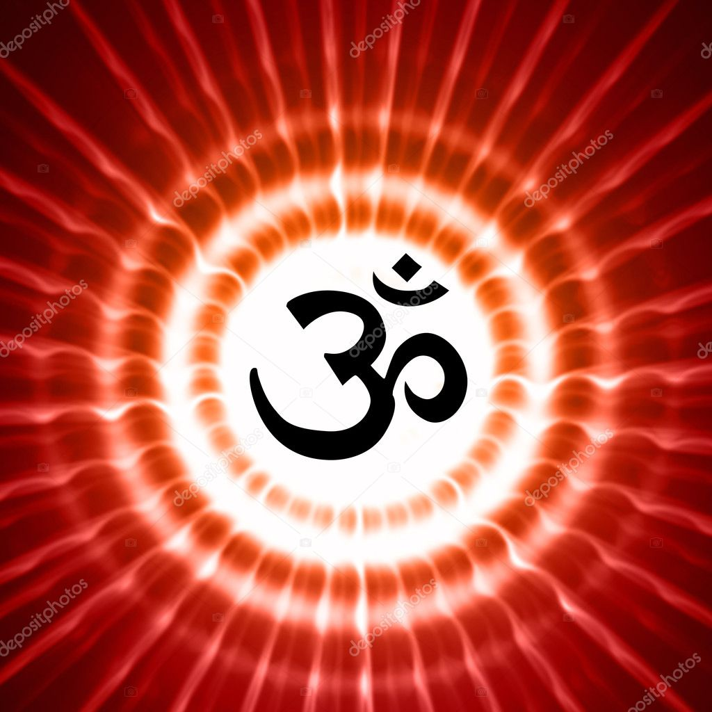 Om symbol over rays stock photo marinini 9835500 Om symbol images download