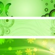 Spring green banners — Stock Photo #9872324