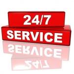 non-stop service — Stockfoto
