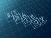 Strategy blueprint — Stock Photo