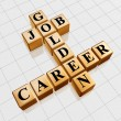 Golden job and career crossword — Stock Photo #9958113
