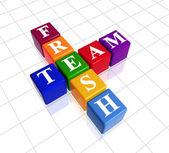 Colour fresh team — Stock Photo