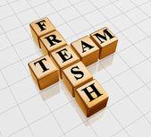 Golden fresh team — Stock Photo