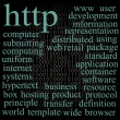 Http. Tag cloud. - Stock Vector