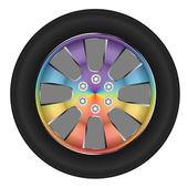 Wheel car — Stock Vector