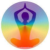 Yoga color — Stock Vector