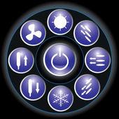 Dark blue buttons — Stock Vector