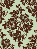Seamless floral background. — Stock Vector