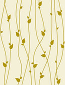 Seamless foliage pattern with spring branches. Vector illustrati — Stock Vector