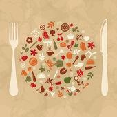 Vintage Restaurant Design — Stock Vector