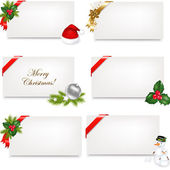 Christmas Blank Gift Tag Set — Stock Vector