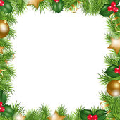Merry christmas grens — Stockvector