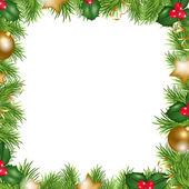 Noel top ve yeşil bir arka plan — Stok Vektör