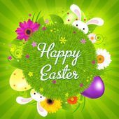 Colorful Happy Easter Card — Stock Vector