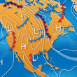 Stock Photo: Weather Map of North America