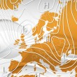 Europe Weather Map — Stock Photo