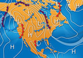 Weather Map of North America — Stock Photo