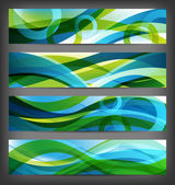 Set van abstract banners / achtergronden — Stockfoto