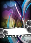 Abstract colorful party design — Vector de stock