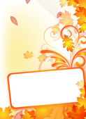 Autumn flyer with text frame — Vetor de Stock