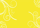 Yellow floral design — Vetor de Stock