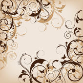 Abstract vector flower design — Stock Photo