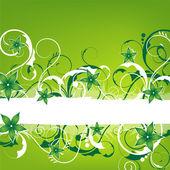 Green springlike vintage design — Foto de Stock