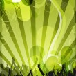 Abstract green event design — Stock Photo