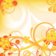 Stock Photo: Orange floral design