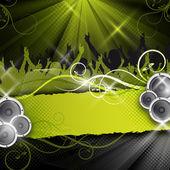 Green vector party design — Stock Photo