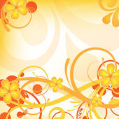 Orange floral design — Stockfoto
