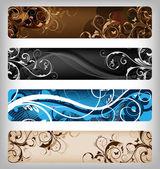 Floral vector designs — Stock Photo