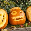 Orange halloween pumpkins — Stock Photo #8793927