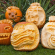 Orange halloween pumpkins — Stock Photo #8794374