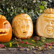 Foto Stock: Orange halloween pumpkins