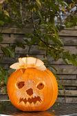Oranges lachendes Kürbisgesicht — Foto Stock