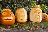 Orange halloween pumpkins — Stock Photo