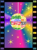 Colored mirror ball — Stock Vector