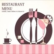 Stock Vector: Restaurant menu design