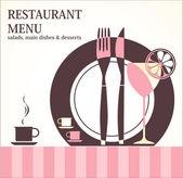 Restaurant menu design — Stock Vector