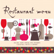 Restaurant menu design — Stock Vector