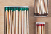 Matches of different length and thickness — Stock Photo